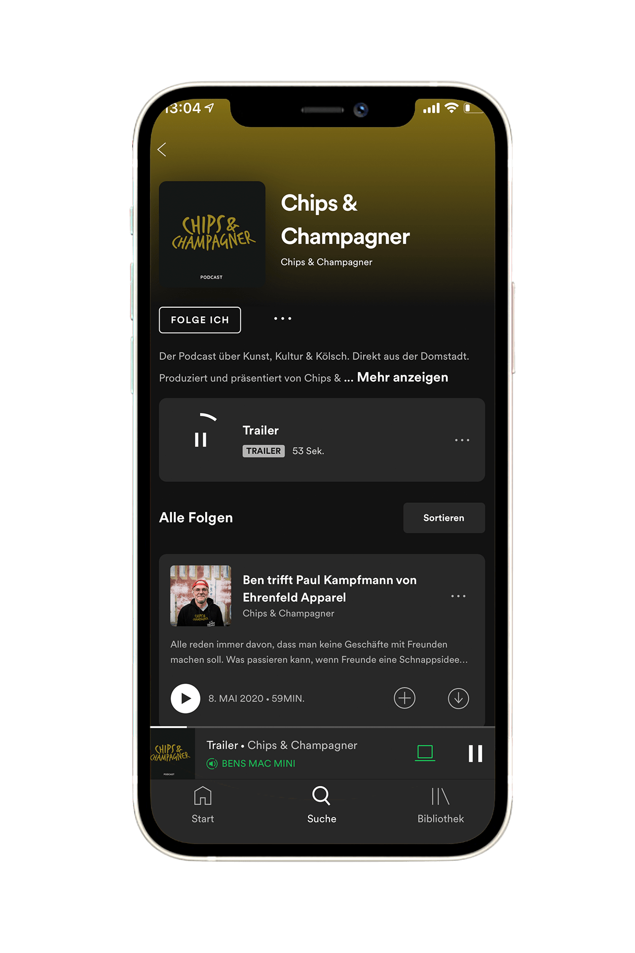 Chips & Champagner Podcast auf Spotify